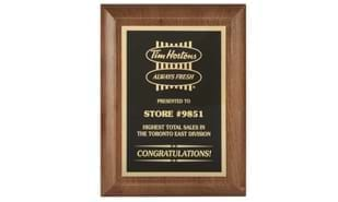 "7"" x 9"" Executive Edge Solid Walnut Plaque"