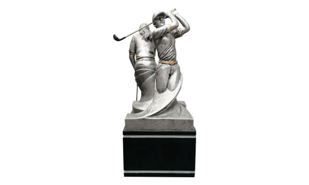 SALE! Female Back to Back Golf Sculpture: 8-1/2""