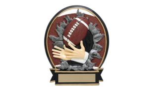 SALE! Football Blow-Out Sculpture: 5-1/4""