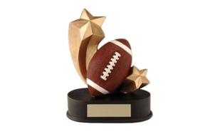 SALE! Shooting Star Football Sculpture: 5""