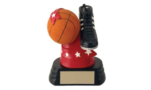 SALE! All-Star Basketball Ball and Shoe Sculpture: 5-1/4""