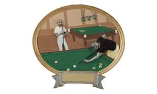 SALE! Full Colour Male Billiards Platter: 6""