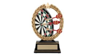SALE! Darts Wreath Sculpture: 6-1/4""