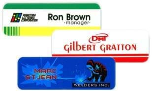 "3"" x 1"" Ultrawhite Name Tag with Magnetic Back"