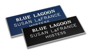 "Plastic Name Tag with Magnetic Back: 3"" x 1-1/4"""