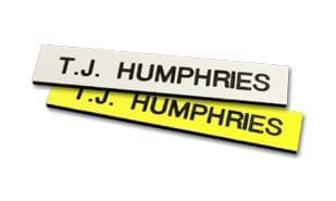 "2 1/2"" x 1/2"" Plastic Name Tag with Pin Back"