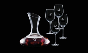 Edenvale Series Decanter and 4 Wine Glass Set