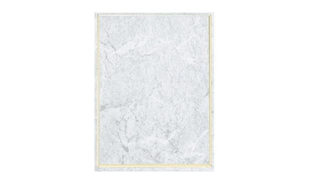 "White Marble Laminate Plaque with Gold Trim: 9"" x 12"""