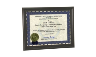 Black Plastic Certificate Frame with Bull Nose Edge