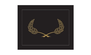 Black Heavyweight Cardstock Certificate Holder with Gold Embossed Design