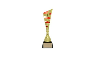 Gold/Red Vito Cup Trophy: 16-1/8""