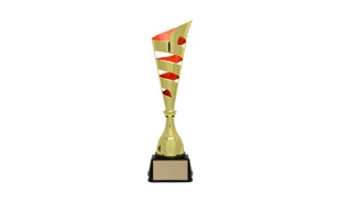 Gold/Red Vito Cup Trophy: 17-3/8""
