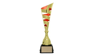 Gold/Red Vito Cup Trophy: 18-3/8""