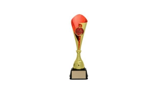 Gold/Red Bruno Cup Trophy: 16-3/8""
