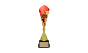 Gold/Red Bruno Cup Trophy: 17-5/8""