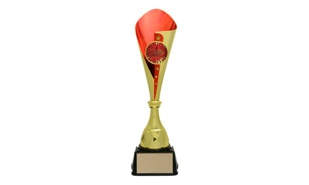 Gold/Red Bruno Cup Trophy: 18-5/8""