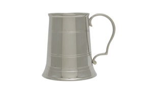 Nickel Plated Elegant Tankard: 10 oz.