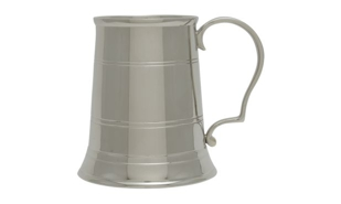 Nickel Plated Elegant Tankard: 15 oz.
