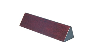"Rosewood Piano Finish Name Bar: 9-1/2"" x 2-1/4"" x 2"""