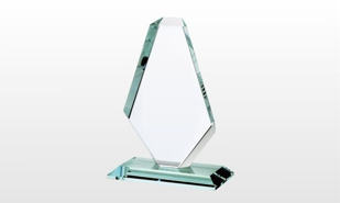 "Royal Diamond Jade Glass Award: 9"" x 11-3/4"""