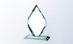 "Diamond Jade Glass: 7"" x 9-1/2"""