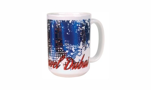 White Coffee Mug with Full Colour Polyetch: 15 oz.