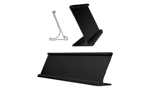 "Black Aluminum Desk Holder: 10"" x 2"""