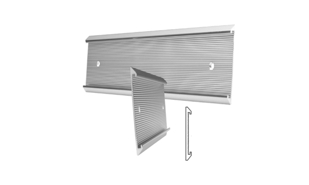 "Brushed Silver Deluxe Aluminum Wall Sign Holder: 8"" x 2"""