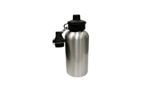 Silver Aluminum Water Bottle: 500ml