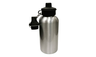 Silver Aluminum Water Bottle: 600ml