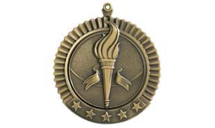 "2 3/4"" Five Star Victory Medallion"