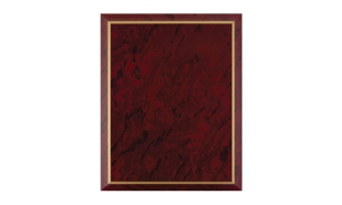 "Red Marble Laminate Plaque with Gold Trim: 10-1/2"" x 13"""