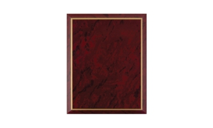 "Red Marble Laminate Plaque with Gold Trim: 8"" x 10"""
