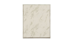"White Marble Laminate Plaque: 7"" x 9"""