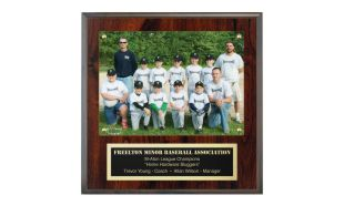 "9"" x 9"" Cherrywood Laminate Picture Plaque"