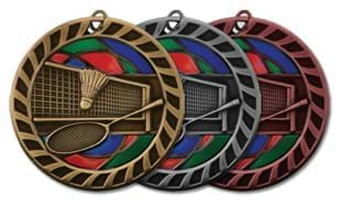 "2 1/2"" Stained Glass Badminton Medallion"