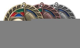 "2 1/2"" Stained Glass Football Medallion"