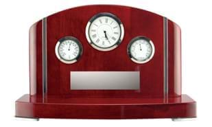 Westmoreland Rosewood Piano Finish Clock Weather Station