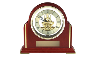 Rosewood Piano Finish See Thru Mantel Clock