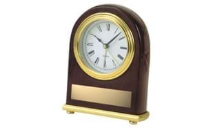 Deluxe Oval Rosewood Clock