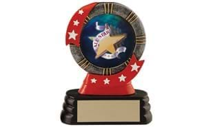 All Star Ribbon Style Mylar Holder Sculpture: 4-1/2""