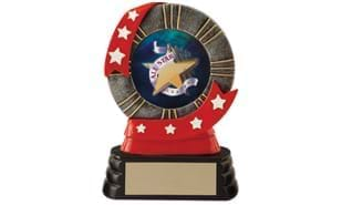 All Star Ribbon Style Mylar Holder: 5""