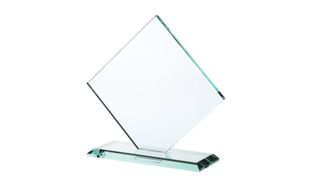 Square Diamond Series Jade Glass Award: 6-1/2""
