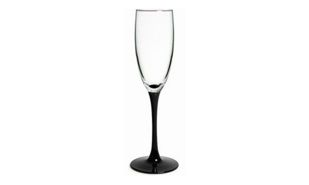 Wine Flute with Black Base