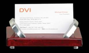 "Business Card Holder: 4-1/2"" x 3-1/4"" x 2"""