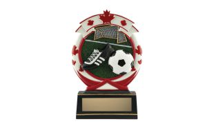 Deluxe Full Colour Soccer Relief Sculpture: 5-1/2""