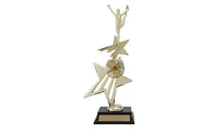 "12-3/4"" Universal Star Power Riser Achievement Award with Figure"