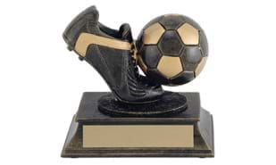 Aztec Gold Soccer Sculpture: 4-1/4""