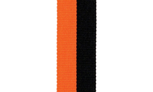 Black & Orange Neck Ribbon
