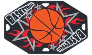 "Basketball Street Tag: 1-5/8"" x 2-1/2"""
